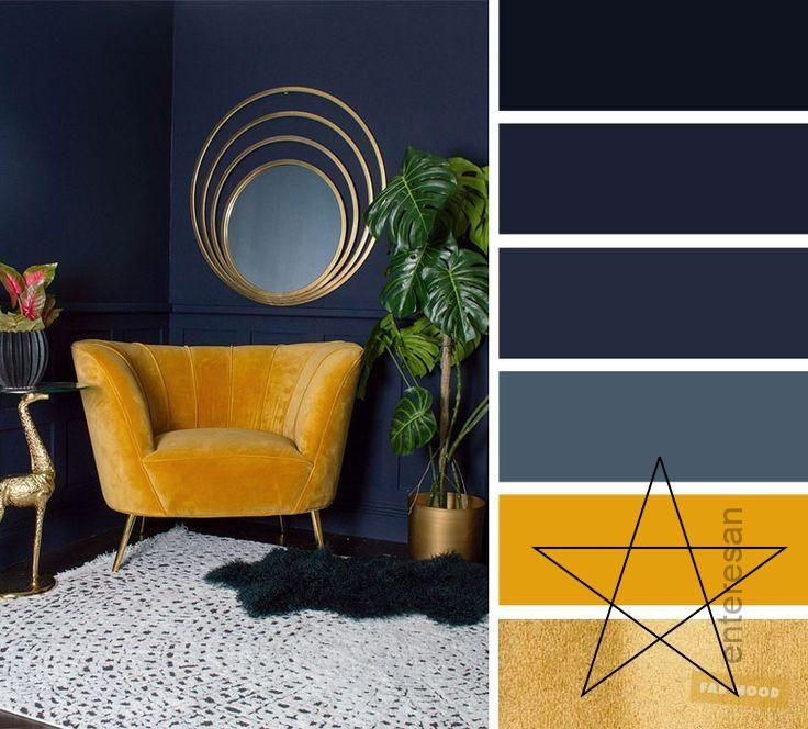 Pin By Saijuta Jutarat On Interior Designs Living Room Color Schemes Room Color Schemes Living Room Color #navy #blue #and #yellow #living #room #decor
