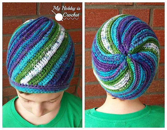 Ravelry: Pinwheel Beanie free pattern by Kinga Erdem   hats ...