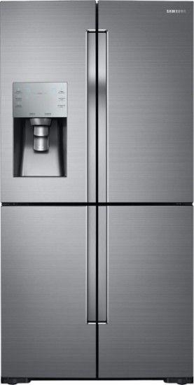 Samsung 28 1 Cu Ft 4 Door Flex French Door Fingerprint Resistant Refrigerator Stainless Steel Rf28k9070sr Best Buy French Door Refrigerator French Doors Stainless Steel Refrigerator