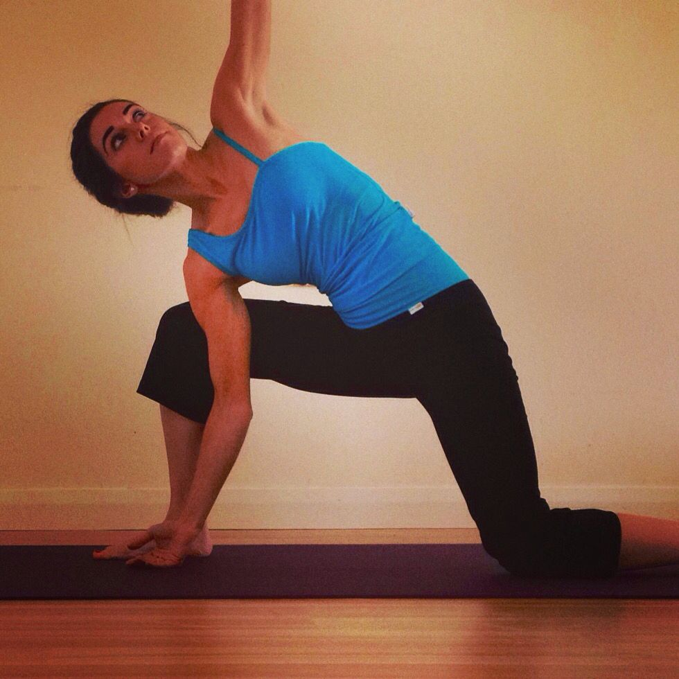 Lunge with chest opening for a full body stretch!