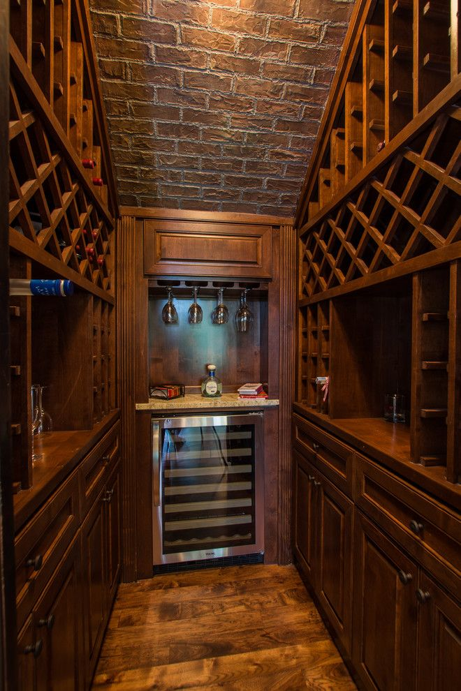 How to build a wine cellar wine cellar traditional with for Wine cellar pinterest