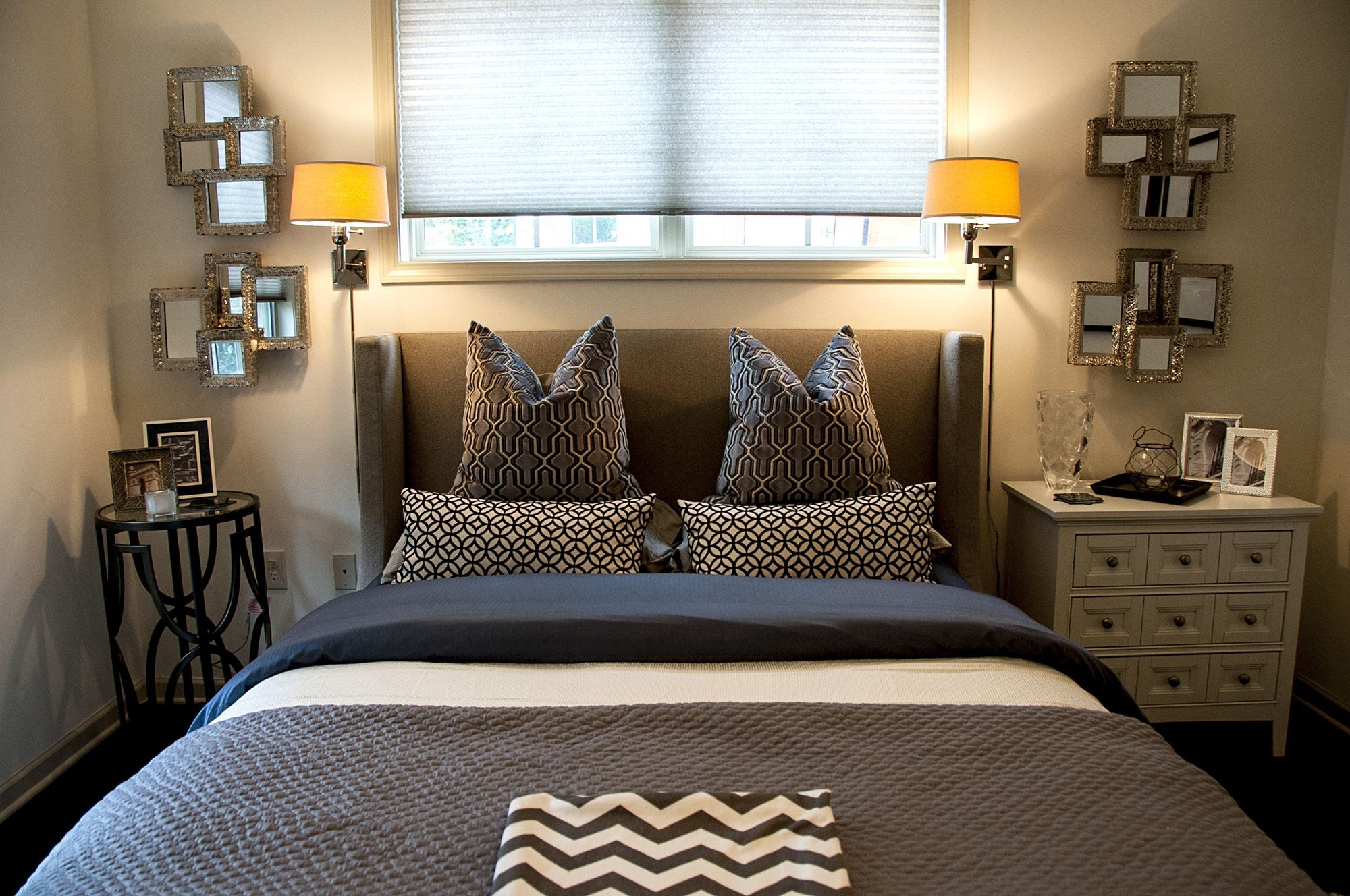 Master bedroom with 2 beds  Contemporary  Bedroom  Images by  Gays u A Design  Wayfair