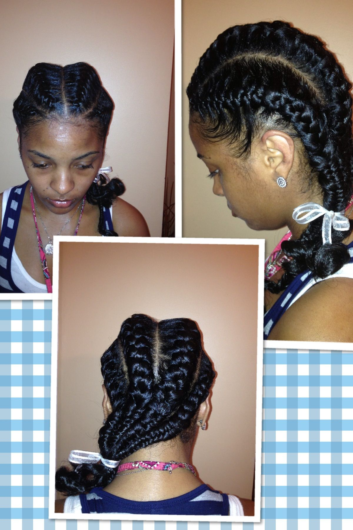 french braids on natural hair | beautiful braid | pinterest