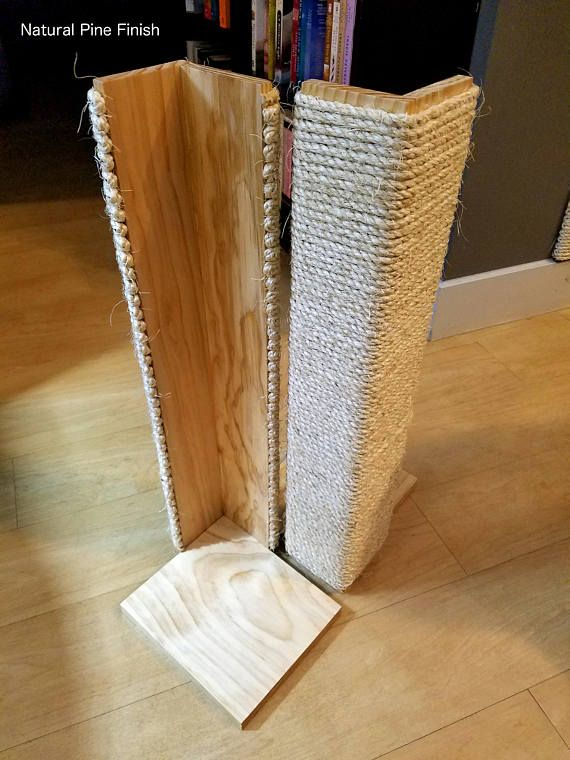 Beau Couch Corner Cat Scratching Post 18 24 Inches Tall, Stained Pine, Sisal  Rope | Joe Resneder | Pinterest | Cats, Cat Scratching And Cat Scratching  Post