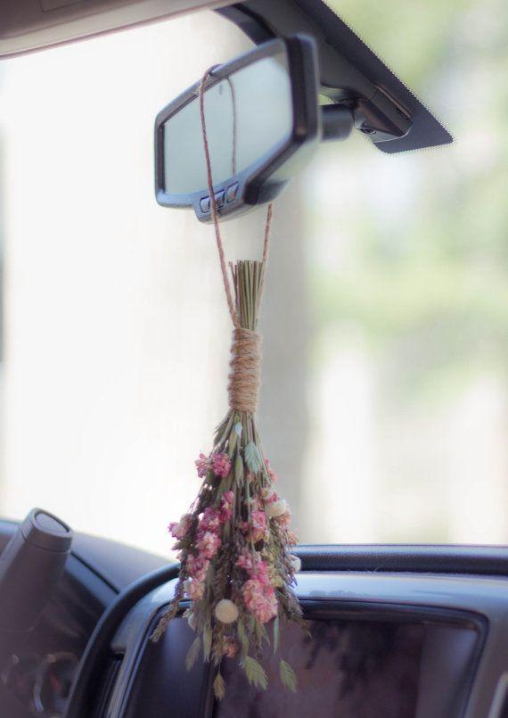 79d83d76c6b Dried flower bouquet Small flower bouquet Bohemian decor Rear View Mirror  Accessories