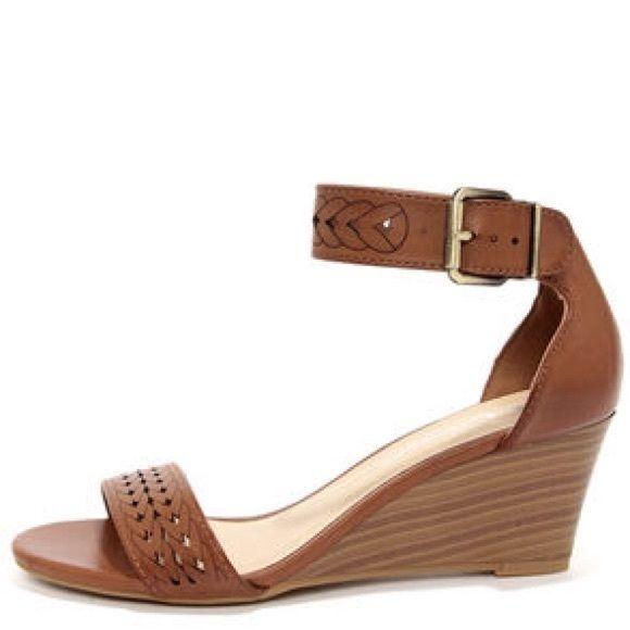 Chinese Laundry Tiffanie Brown Wedge Sandals Brown Wedge Sandals Wedge Sandals Faux Leather Heels