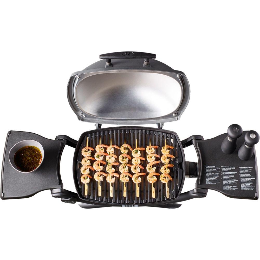 Weber Grills Q2200 Portable Liquid Propane Titanium Gas Grill Weber Grill Grilling Best Gas Grills