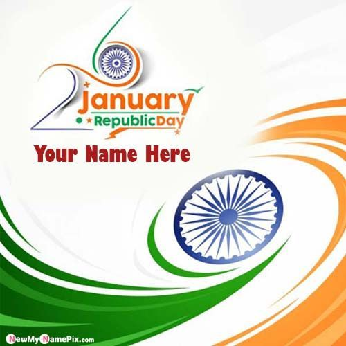 Republic Day Status Send Online Name Write Pictures Free