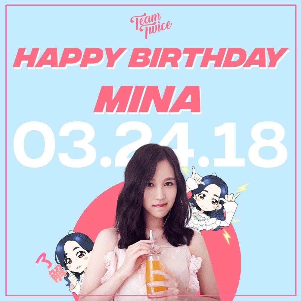 Twice-Mina 180324 Happy birthday Happy Mina Day | ☆Twice
