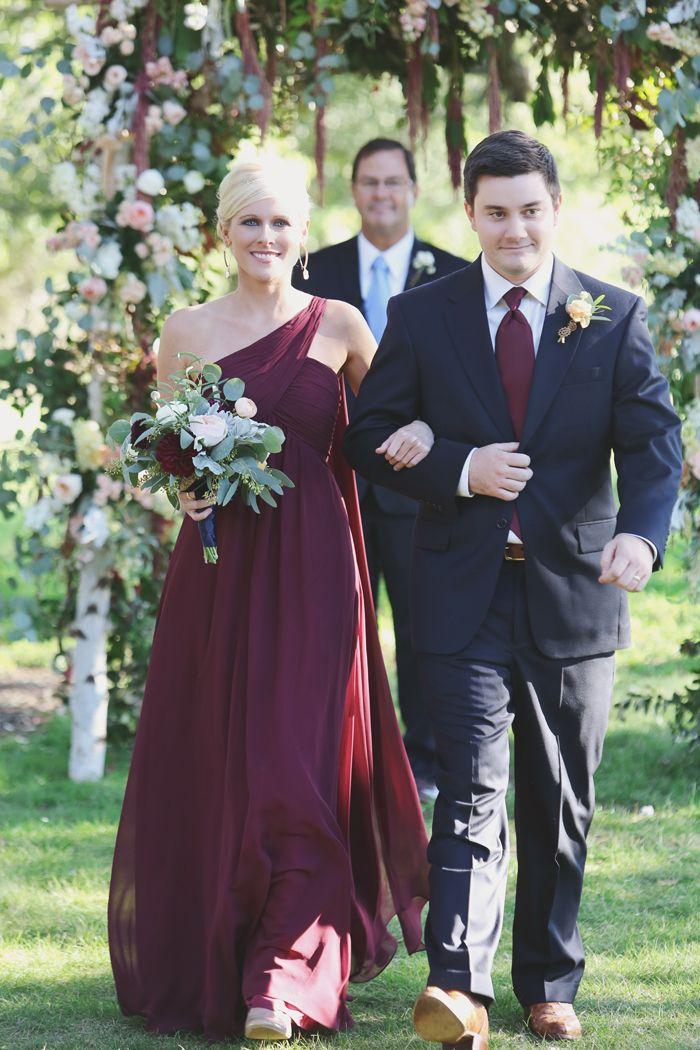 Burgundy and dark navy blue whitney 39 s wedding for Navy dress for fall wedding