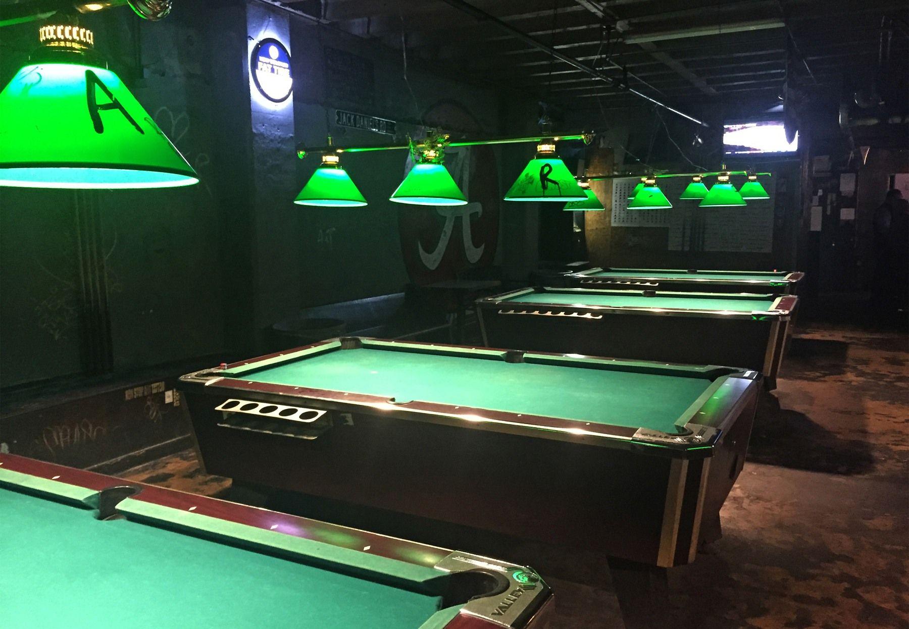 Velvet Tables Billards Interior Small Dive Bar Of A Pool Hall