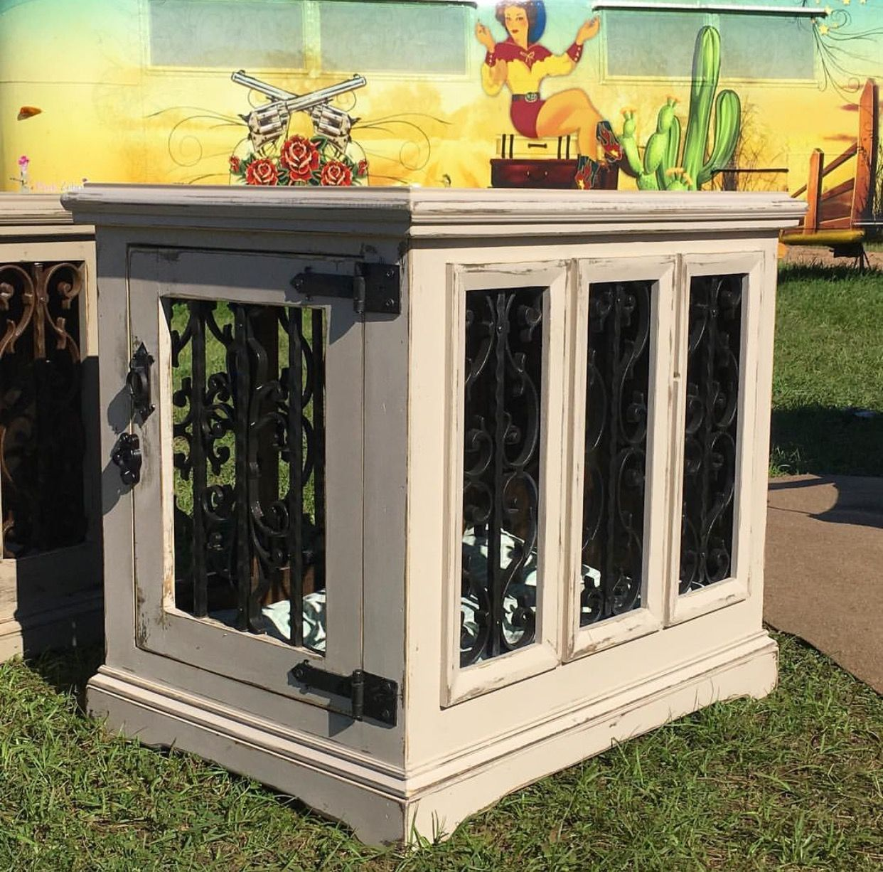 Custom Indoor Dog Kennel By In The House Kennels 545 At Waron Round Top Antique Weekend Located Arbor Antiques Too Tx