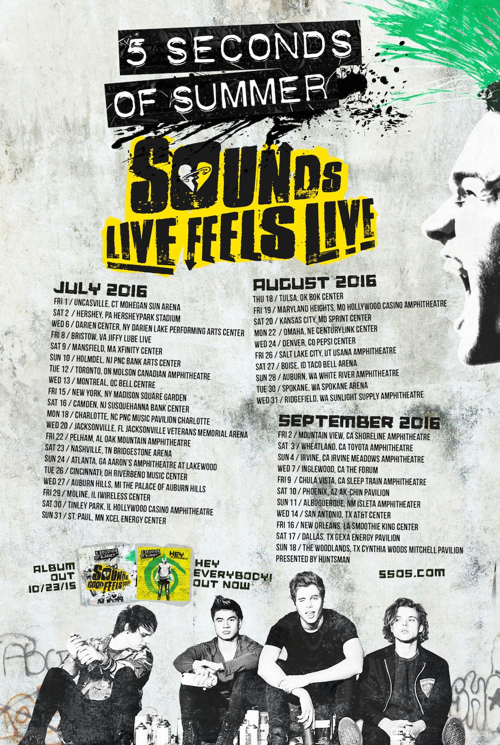 Slfl Tour Dates Feel Good 5sos Updates Feelings Art 5 Seconds
