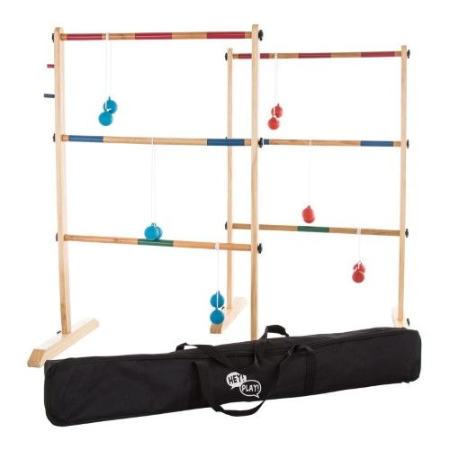 Hey Play Double Wooden Ladder Golf With 6 Bolas Wooden Ladder Ladder Golf Wood Ladder