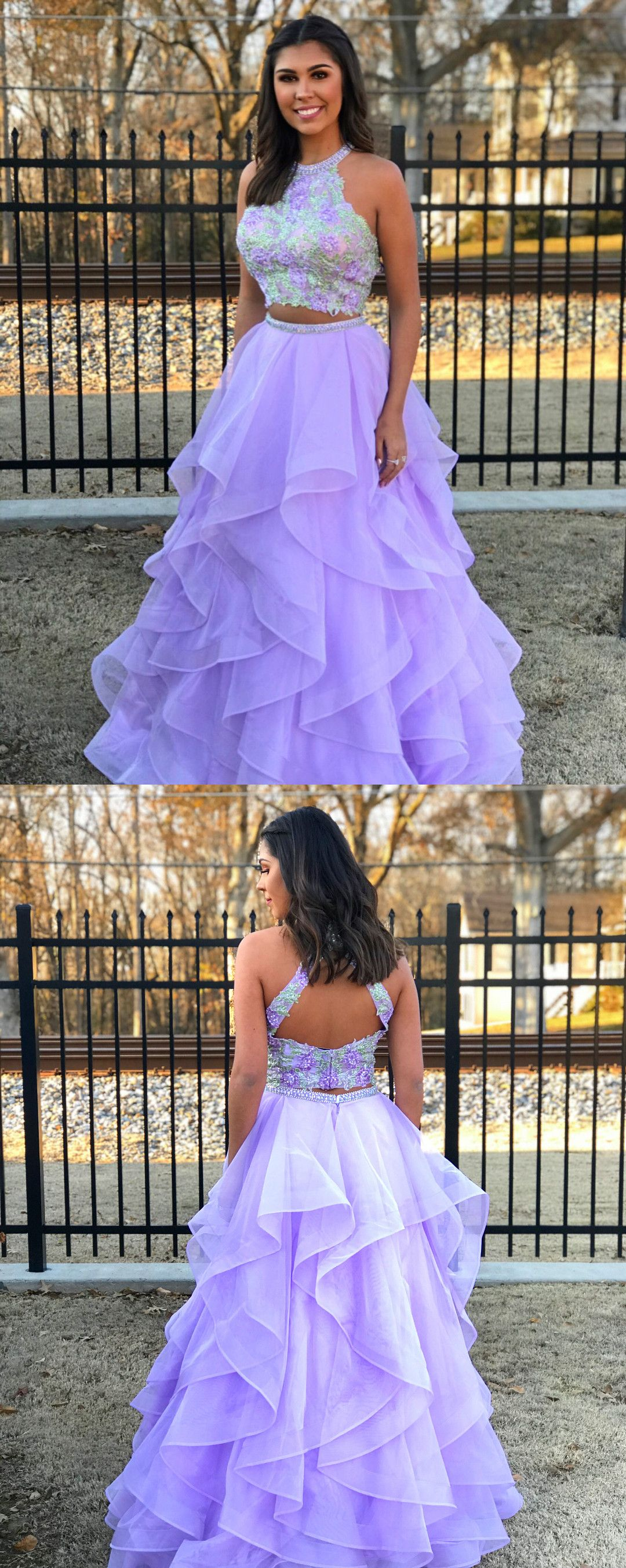 princess prom dresses, two piece prom dresses, lavender prom dresses ...