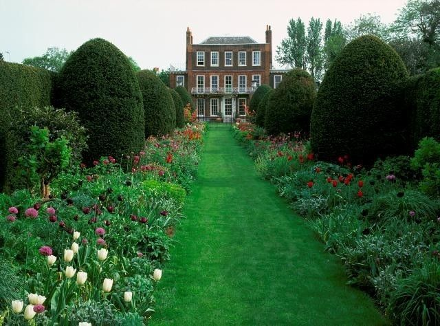 Petersham House Gardens and nurseries in Richmond, Greater London.