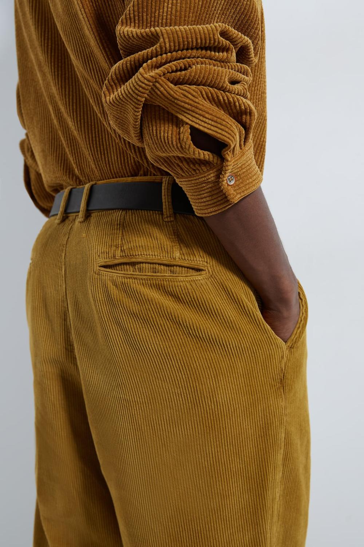 Pantalon Loose Pana Pana Hombre Zara Mexico