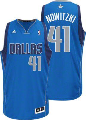 Dallas Mavericks Dirk Nowitzki 41 Blue Authentic NBA Jersey Sale