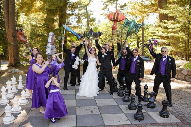 World Of Warcraft Themed Weddings Sure Look Fun Gamer Wedding Wedding World Of Warcraft