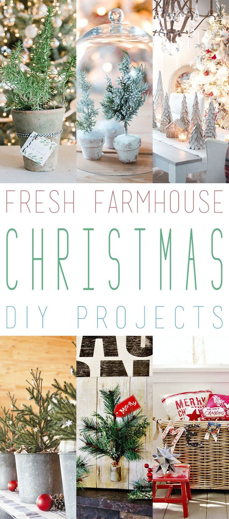 11 Fresh Farmhouse Christmas DIY Projects | Holidays, Christmas ...