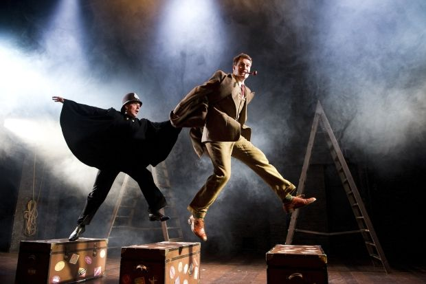 39 Steps at the Criterion Theatre. Paul Bigley & Andrew Alexander in The 39 Steps © Tristram Kenton #Westend #Theatre #London