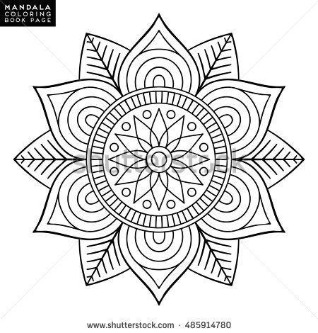 Mandala, floral mandala, flower mandala, oriental mandala, coloring ...