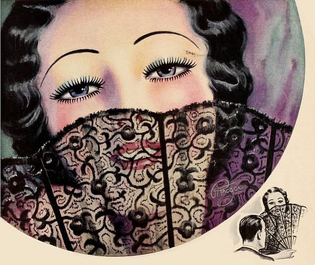 An enchanting illustration from a 1933 Maybelline ad.
