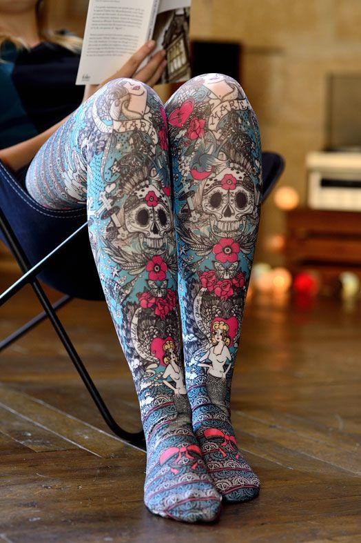 Extrêmement Collant Marie Antoilette. Modèle Micheline. Inspiration tatouage  VD78