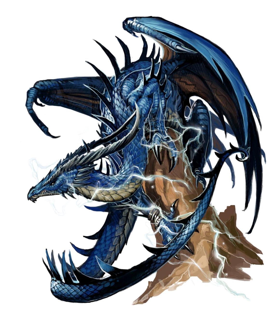 Male Ancient Blue Dragon - Pathfinder PFRPG DND D&D 3 5 5E 5th ed