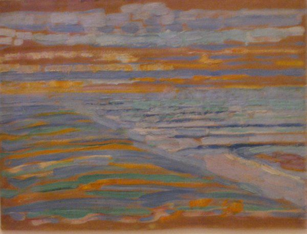 View from the Dunes with Beach and Piers by Piet Mondrian (1909)