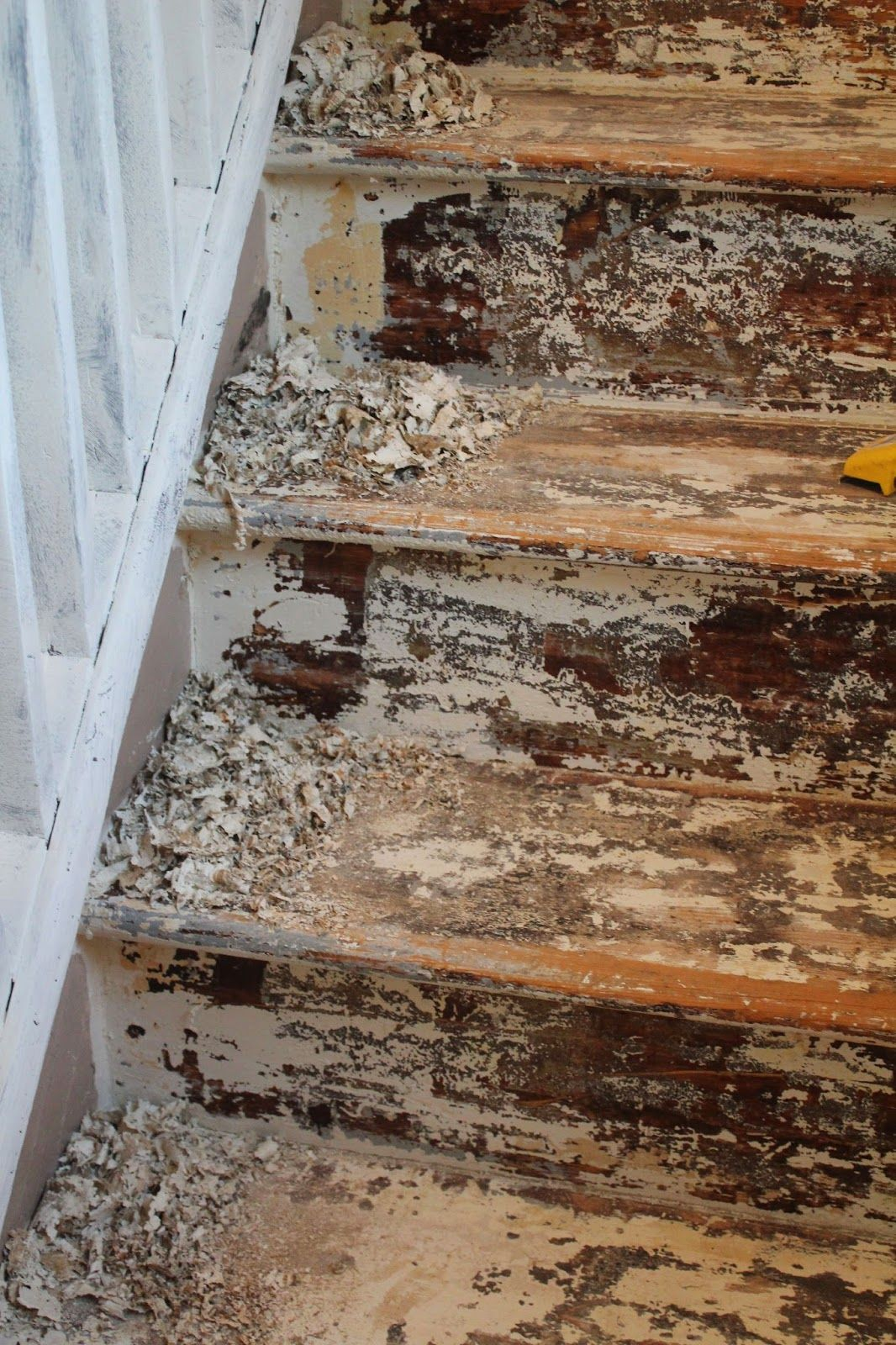 How to strip and sand painted stairs