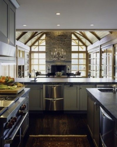 By Truexcullins Architecture Interior Design Burlington Vt White Kitchen Rustic Modern Kitchen Design Rustic Modern Kitchen