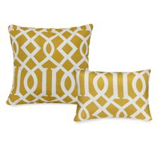 Outdoor Pillow Collection Yellow Trellis Bed Bath Beyond