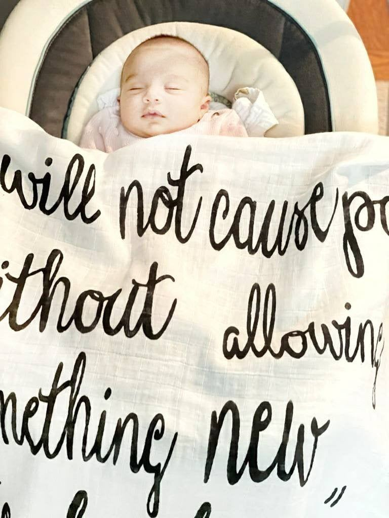 I Will Not Cause Pain Without Allowing Something New To Be Born Says The Lord Blanket-Scripture Blanket-Rainbow Baby-Isaiah66:9-Baby Gift