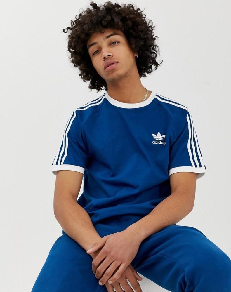 b7e03880 adidas Originals 3 Stripe Men's California Tee in Navy 100% Cotton |  Clothing, Shoes & Accessories, Men's Clothing, Shirts | eBay!
