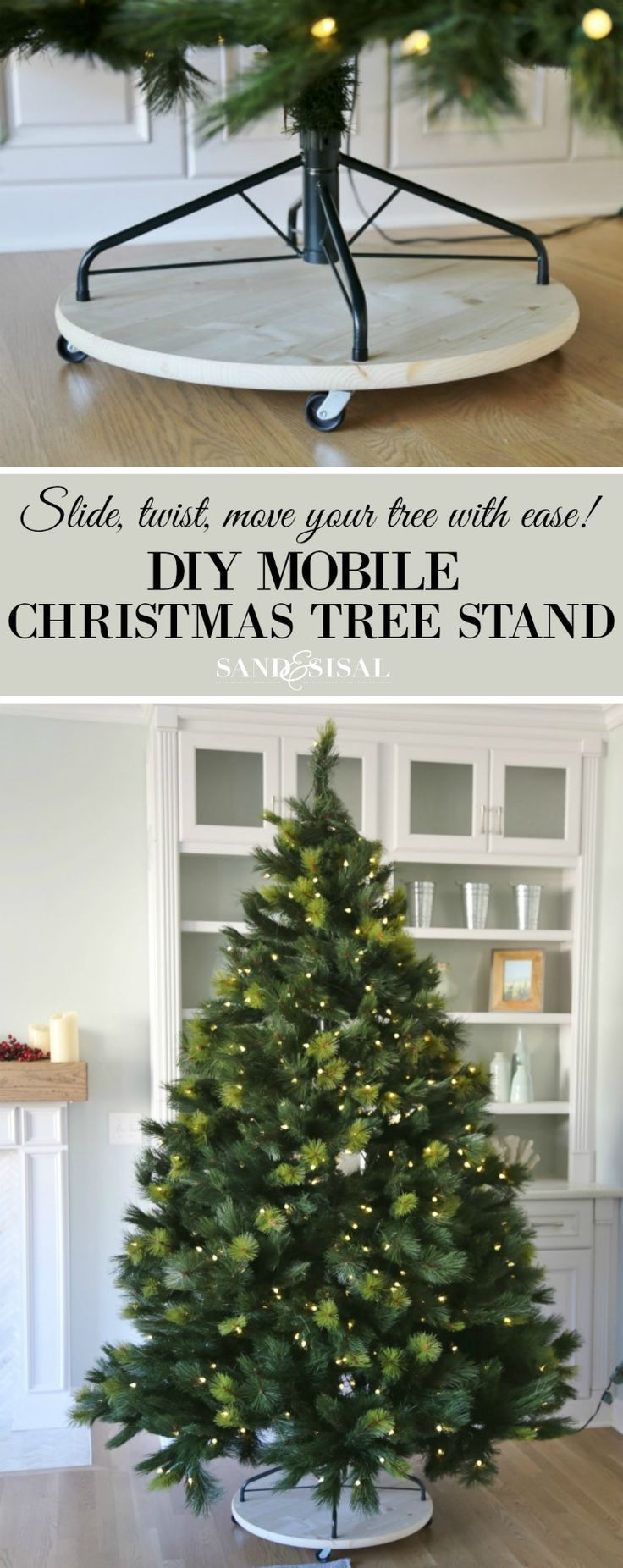 Build A Wood Christmas Tree Base Free And Easy Diy Project And Furniture Plans Christmas Tree Base Christmas Decorations Wood Christmas Tree