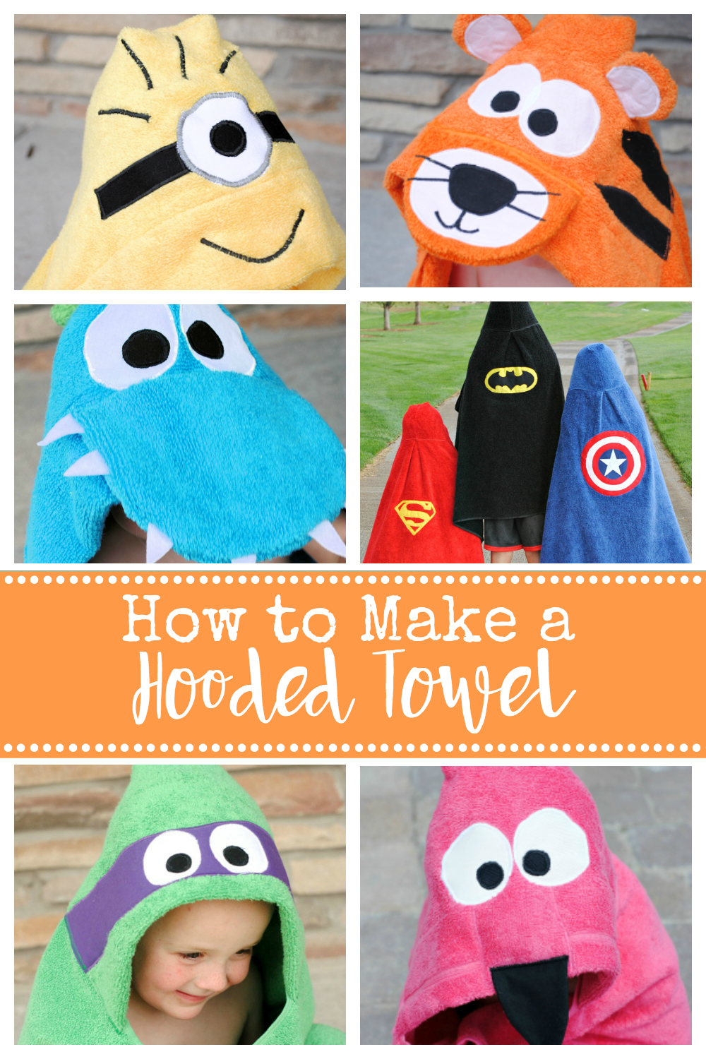 How To Make A Hooded Towel For Toddlers And Kids With Images