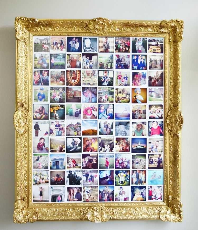 vergoldener Bilderrahmen im Barock Stil mit Bild aus mehreren ...