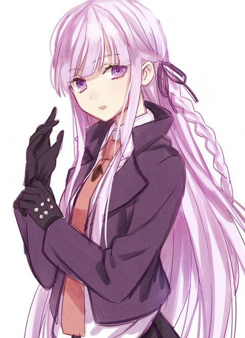 purple hair girl with Anime
