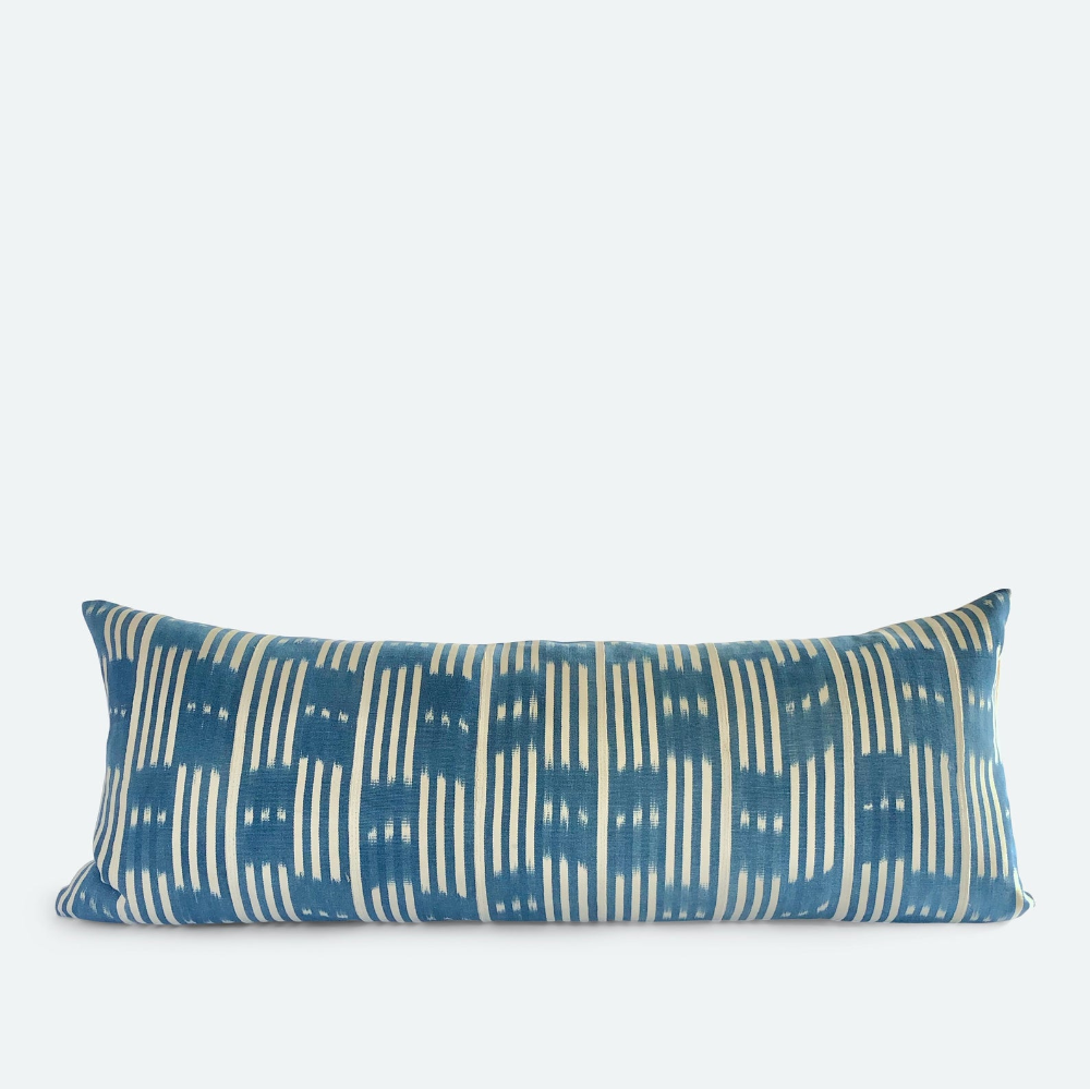 Large Lumbar Pillow Cover Blue Baoule No 2 In 2020 Pillows Pillow Covers Lumbar Pillow