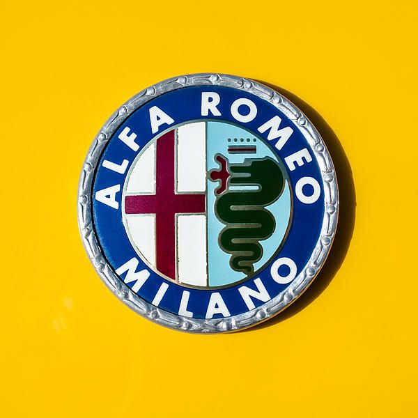 Alfa Romeo Emblem - Car photographs  by Jill Reger