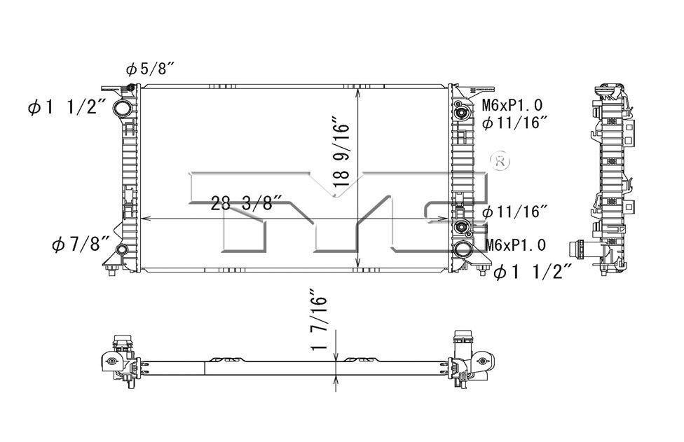 Radiator Assembly Tyc 13278 Tyc Cars Trucks Radiators