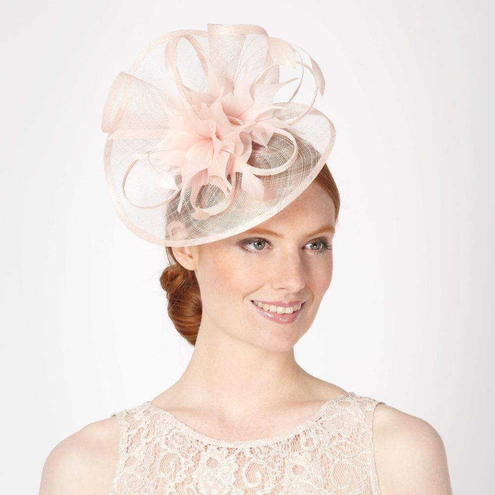 Debut Womens Light Pink Pointed Feather Corsage Fascinator From Debenhams 2ba27edd21d