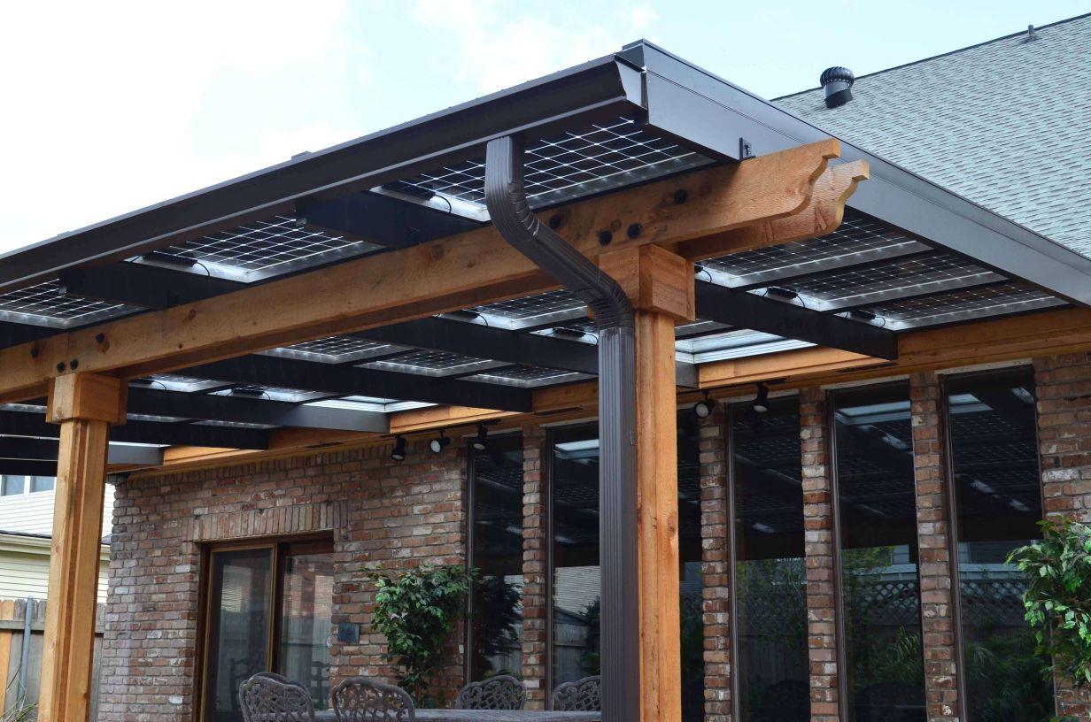 Image Result For Solar Panel Roof Trellis Kanopi Atap Ide