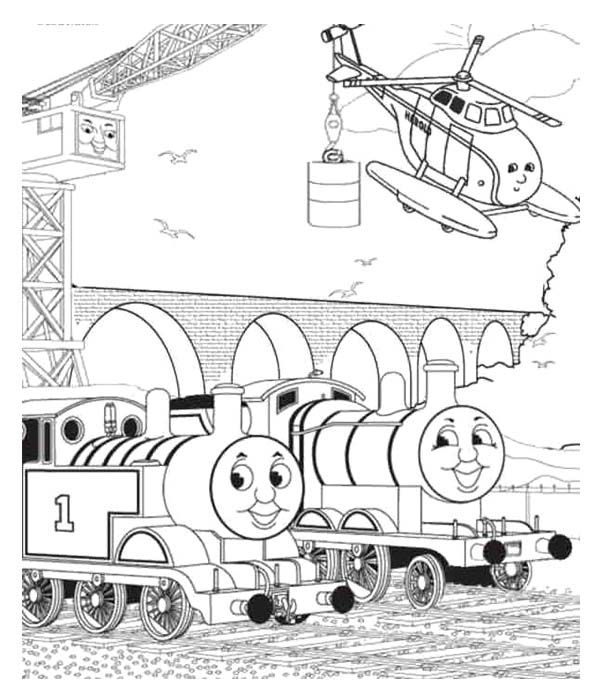 Thomas And Friends Two Helicopter Coloring Page | coloring pages ...