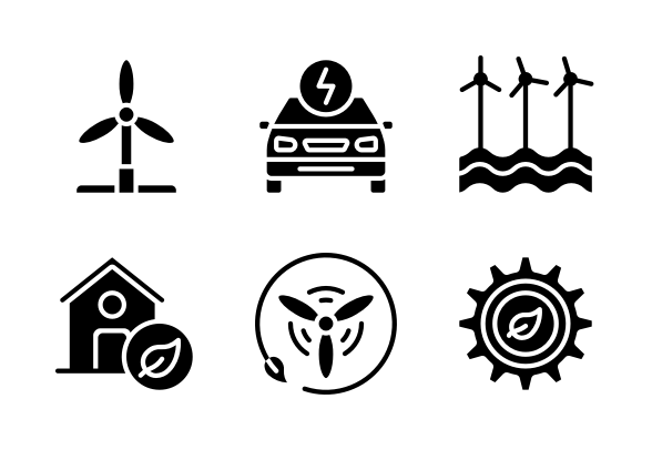 Clean Energy Glyph Icons By Juicy Fish Glyph Icon Glyphs Floral Invitations Template