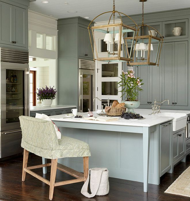 "cabinet and kitchen island paint color is ""sherwin williams sw"