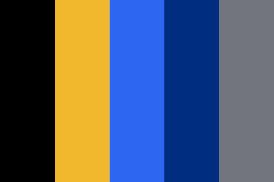 Gold Black And Blue All Over Color Palette Black Color Palette Gold Color Scheme Blue Color Schemes