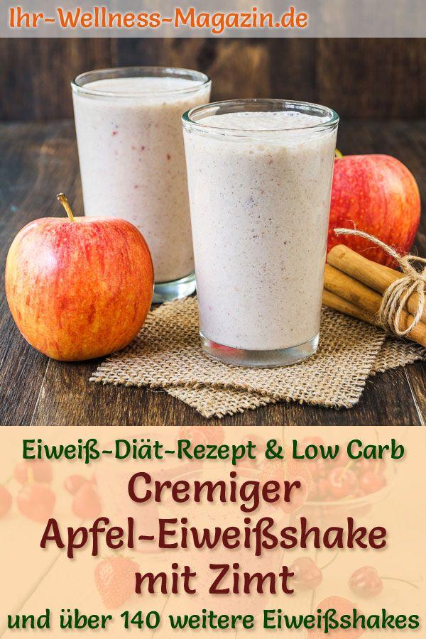 Apfel-Eiweißshake mit Zimt – Low-Carb-Eiweiß-Diät-Rezept zum Abnehmen