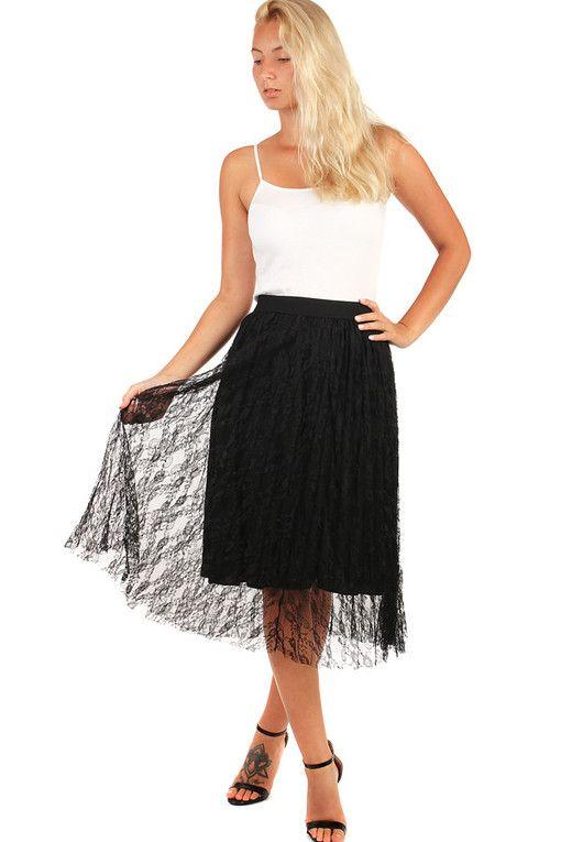 87d6ceb31d75 Dámská společenská tylová midi sukně